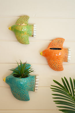 Ceramic Bird Wall Planters