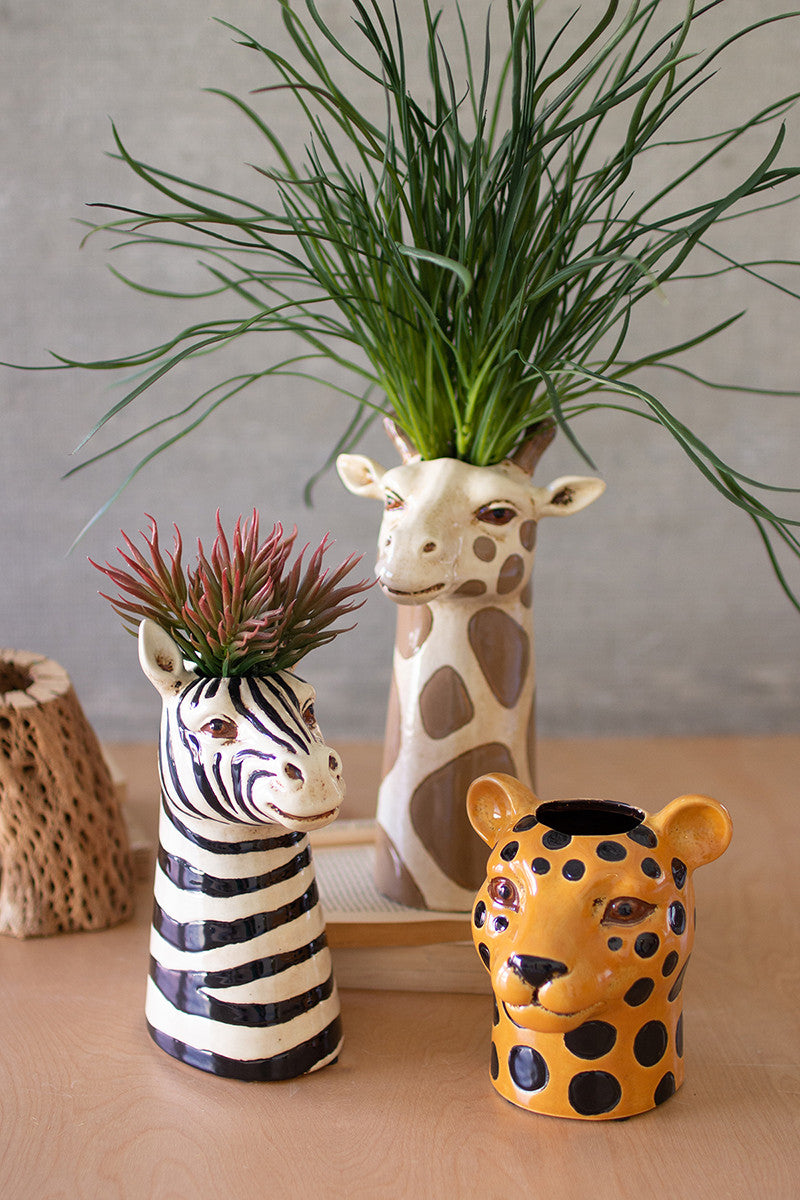 Ceramic Safari Animal Planters