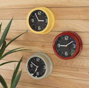 Painted Metal Wall Clocks