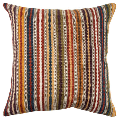 Multicolored Woven Throw Pillow