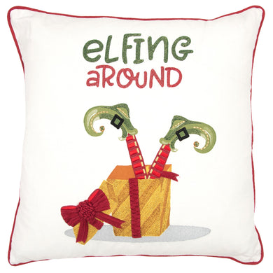 Elfing Around Pillow