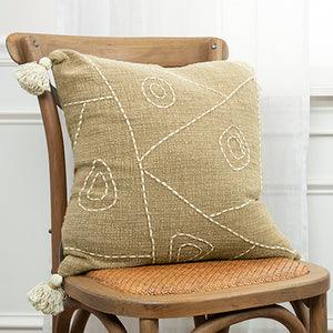 Neutral Abstract Pillow
