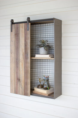Recycled Wood & Metal Cabinet
