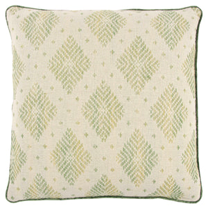 Green & Natural Woven Pillow