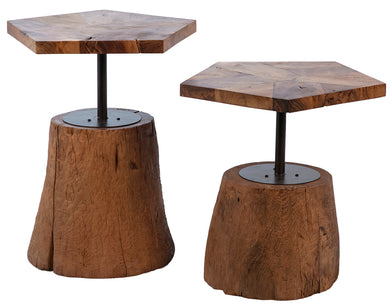 Teak Root Side Tables