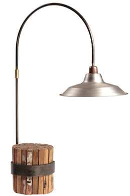 Wood & Industrial Table Lamp