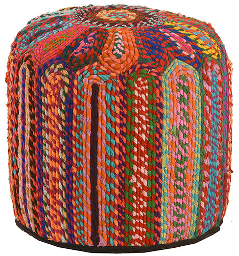 Multi-Colored Pouf