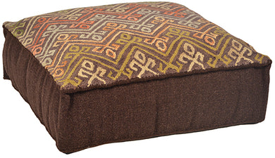 Hand Tufted Wool Pouf