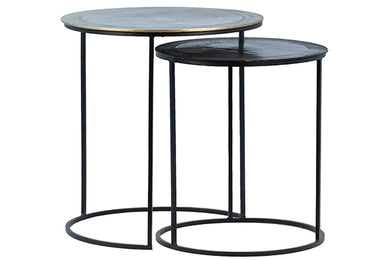 Brass & Bronze Nesting Side Tables