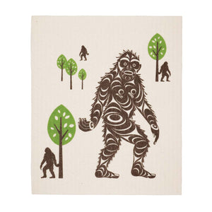 Sasquatch Swedish Dishcloth by Francis Horne Sr.