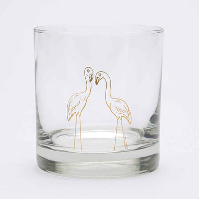 Flamingo Rocks Glass (11 oz)