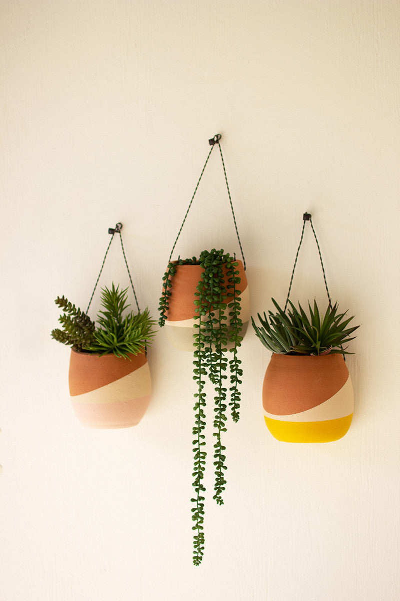 Color Dipped Wall Pocket Planters
