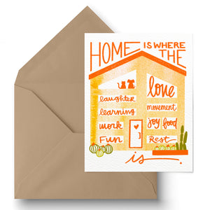Home Is... Greeting Card