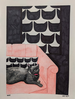 Cats On Rugs by Mari M. (9 x 12)