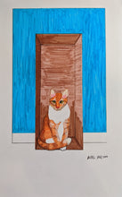 Cats On Rugs by Mari M. (8.5 x 5.5)