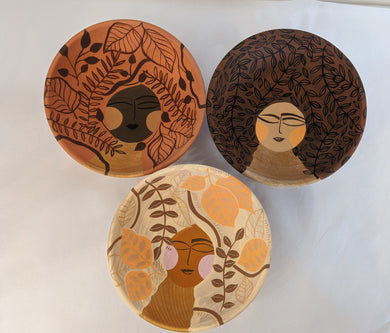 Painted Bowls by Local Artist Jill Reynolds