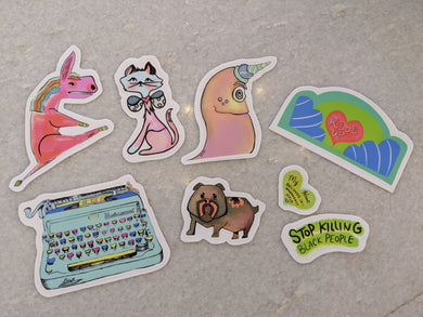 Stickers by Local Artist Dolly Heart