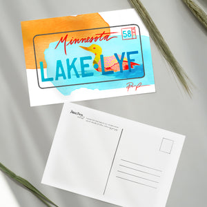 Minnesota License Plate Post Cards