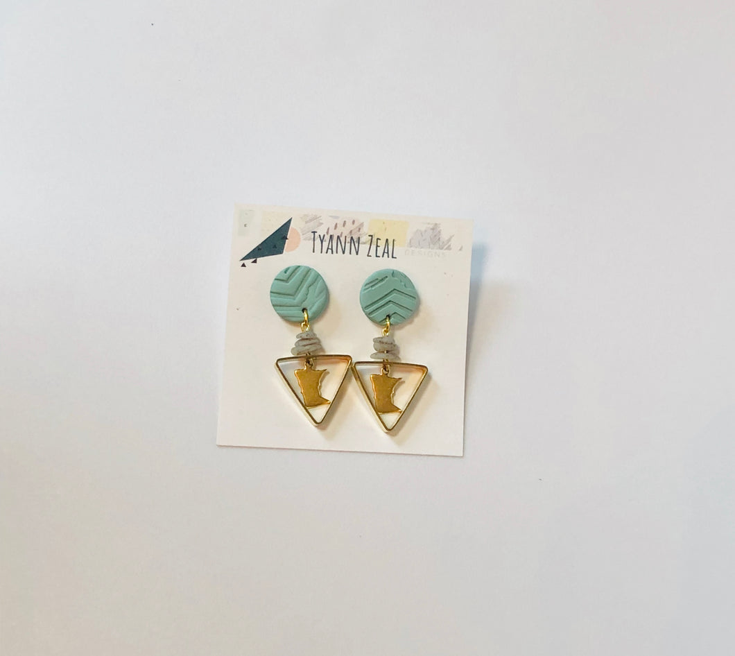 MN Earrings-Teal