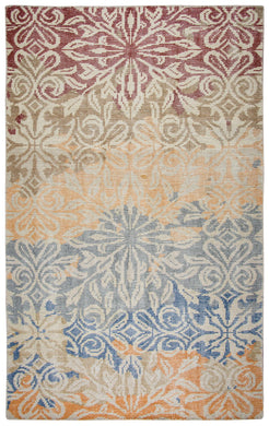 Herbal Washed Hand Knotted Rug-Multi