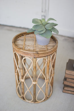 Cane Stool/Side Table
