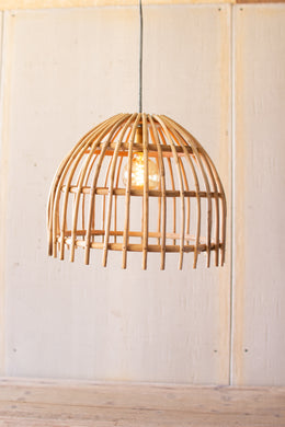 Bamboo Dome Pendant Light
