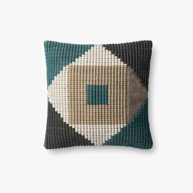 In & Out Teal Pillow