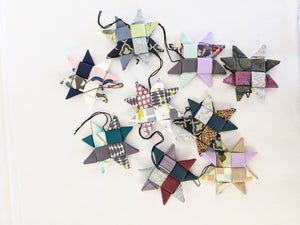 Fabric Star Ornaments