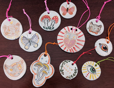 Handmade Ceramic Ornaments