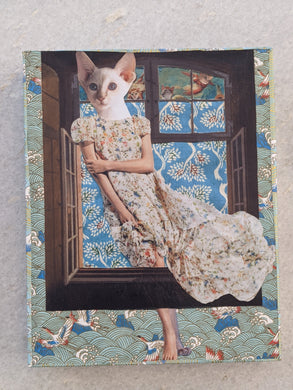 Cat in the Window - Jessie Lawson Mounted Reproduction