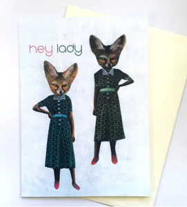 Retro Fox Greeting Card