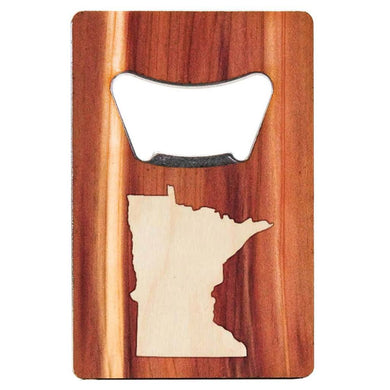 MN Inlay Wood Bottle Opener (Credit Card Sized)