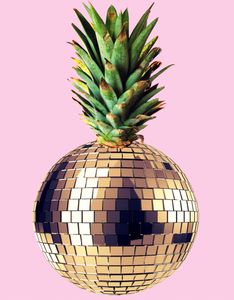 Ananas Party Pink-By Kiki Collagist