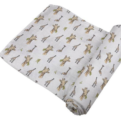 Hungry Giraffe Bamboo Swaddle Blanket