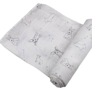Dogs Bamboo Swaddle Blanket