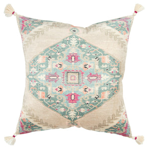 Multi Colored Pillow With Tassels