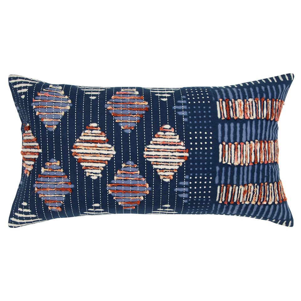 Recycled Sari One-of-a-Kind Pillow