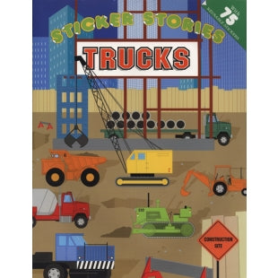 Trucks Reusable Sticker Book