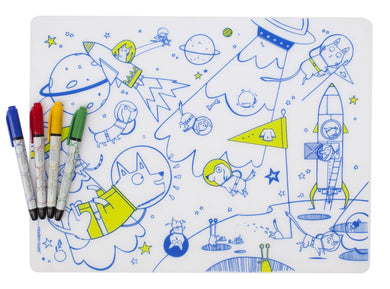 Mark-Mat + 4 Markers Set - Space Animals