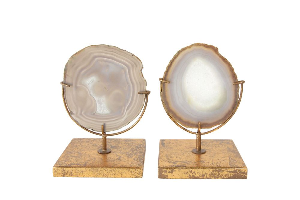 Agate Decor on Stand