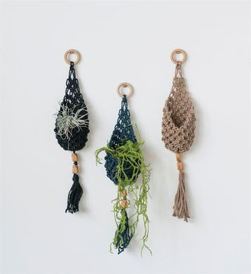 Woven Jute Wall Pocket Planter