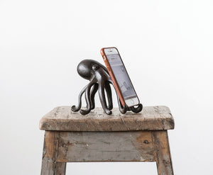 Cast Iron Octopus Phone/Table Stand