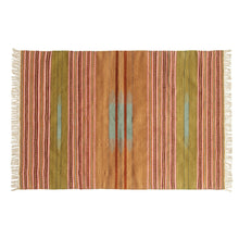 Striped Kilim Rug with Fringe