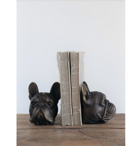 Dog Head Bookends