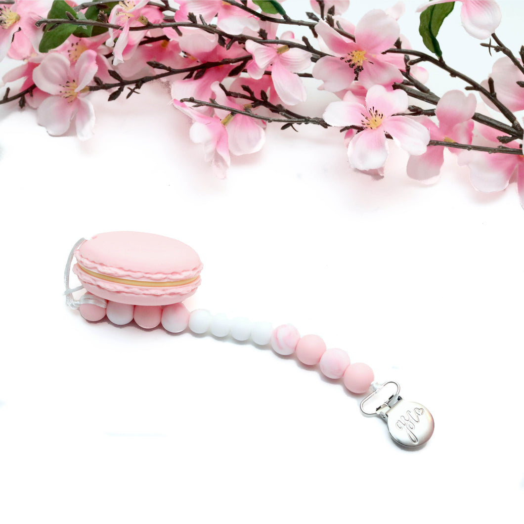 Clip on Teether - Pink Macaron