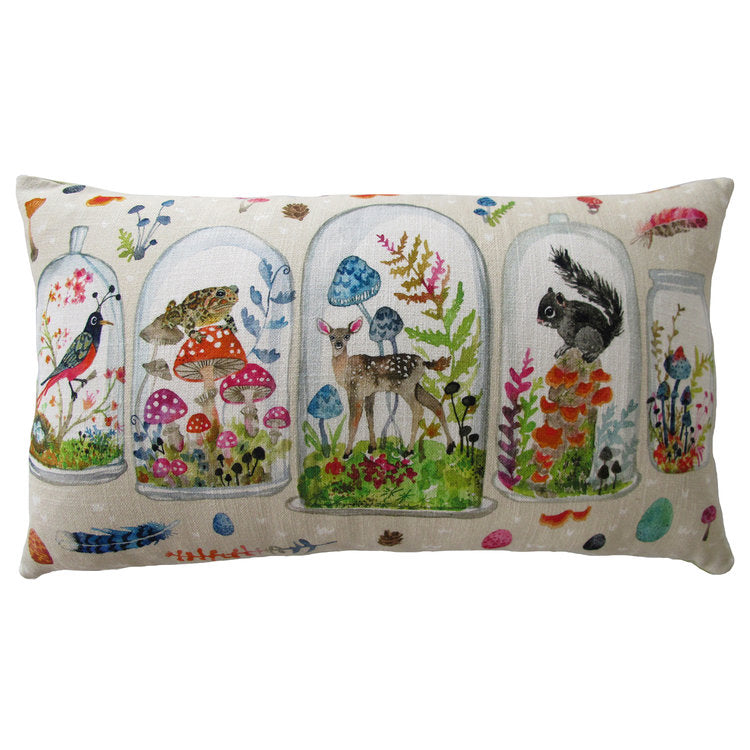 Woodland Terrarium Pillow