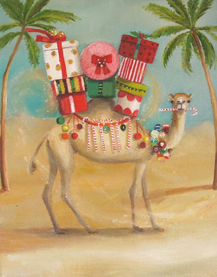 The Christmas Camel Preferred A More Temperate Climate Art Print - 8.5 X 11
