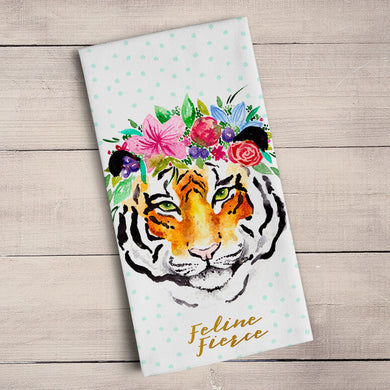 Feline Fierce Tea Towel