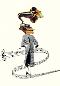 Gramophone Symphony -By Kiki Collagist