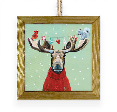 Wondrous Moose- Ornament